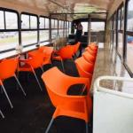 Amazing!!! Man converts 47-seater bus into mobile restaurant (Photos)