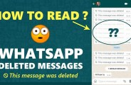 How To Read Deleted Whatsapp Messages and images 24