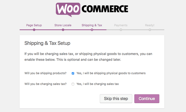 WooCommerce Shipping and Taxes