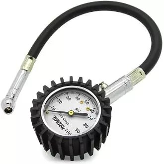 Tire Guage for monitoring pressure in a tire