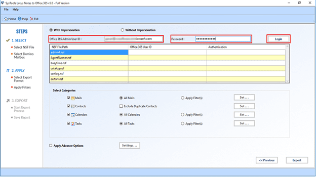 • Now in this step for IBM Domino to O365 migration