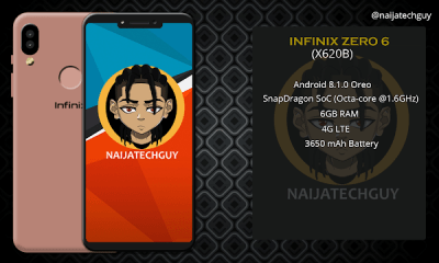 The New Infinix Zero 6 X620B Comes With 6GB RAM  - See Full Specifications And Price In Nigeria 4
