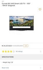 Would You Buy This 24 Million Naira Curved LG Television On Jumia 2
