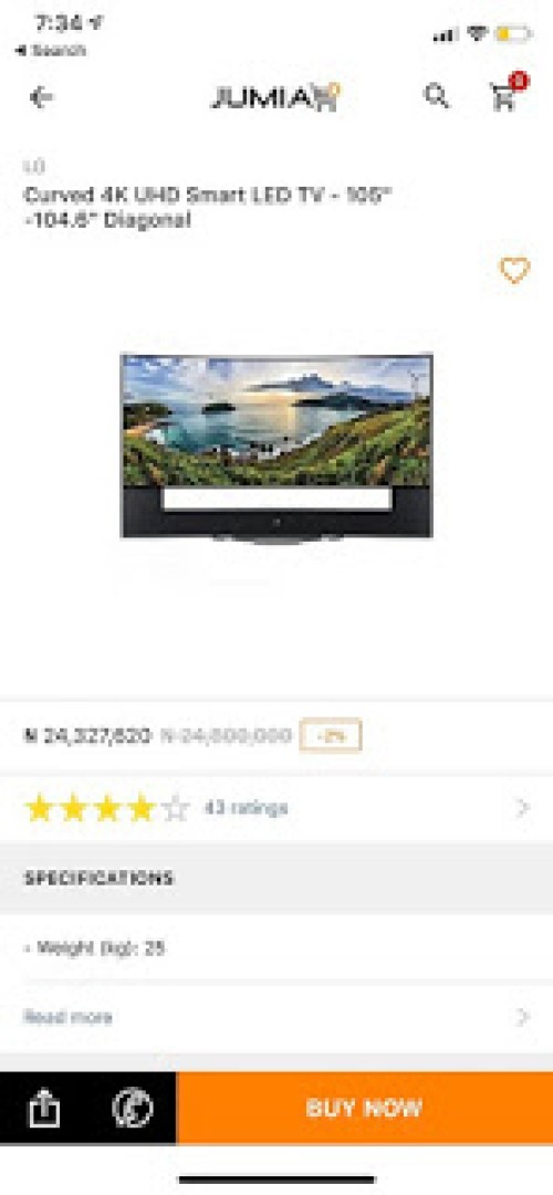 Would You Buy This 24 Million Naira Curved LG Television On Jumia 23