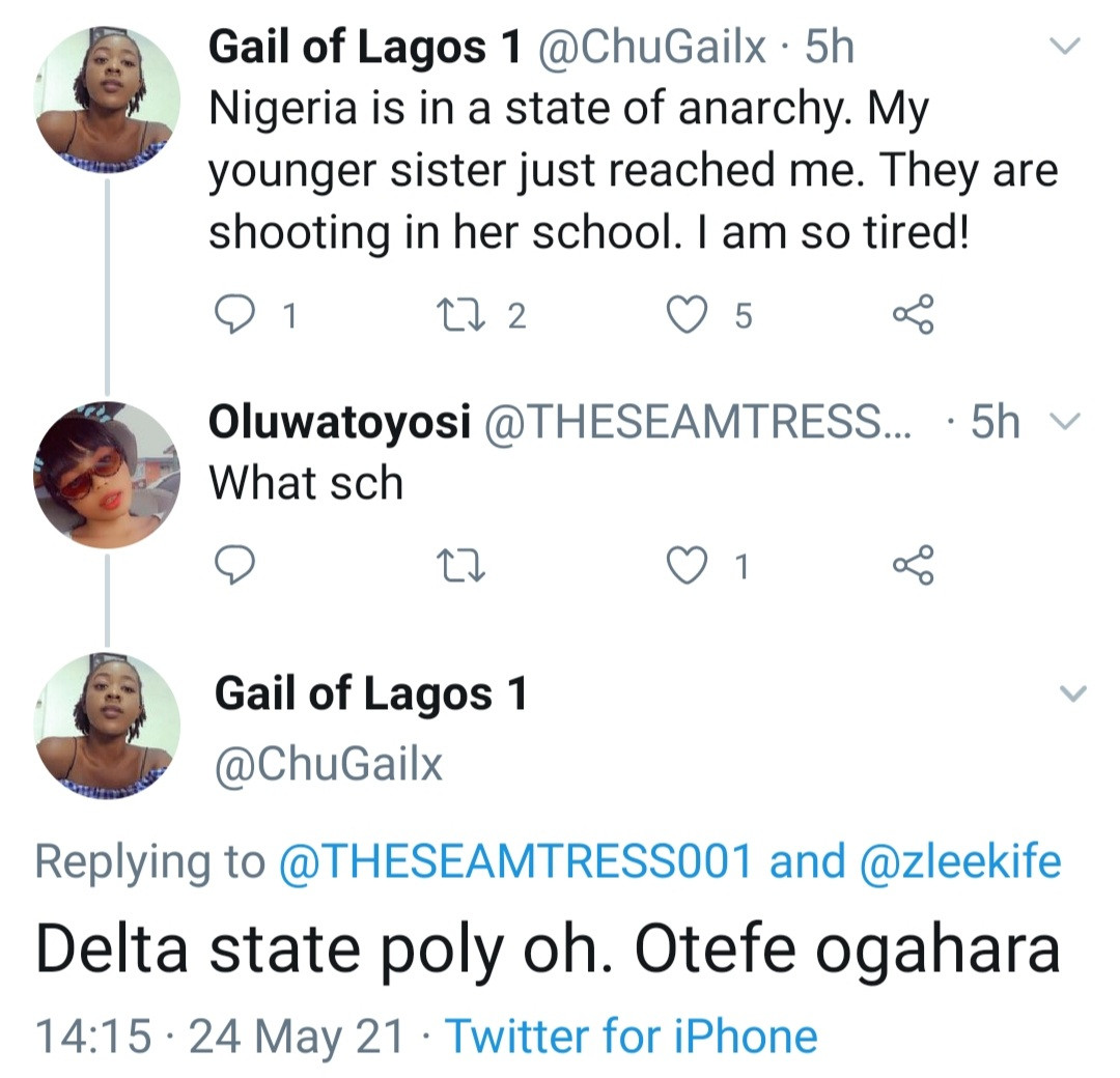 Students and staff jump window to flee for their lives as cult clash breaks out in Delta State Polytechnic
