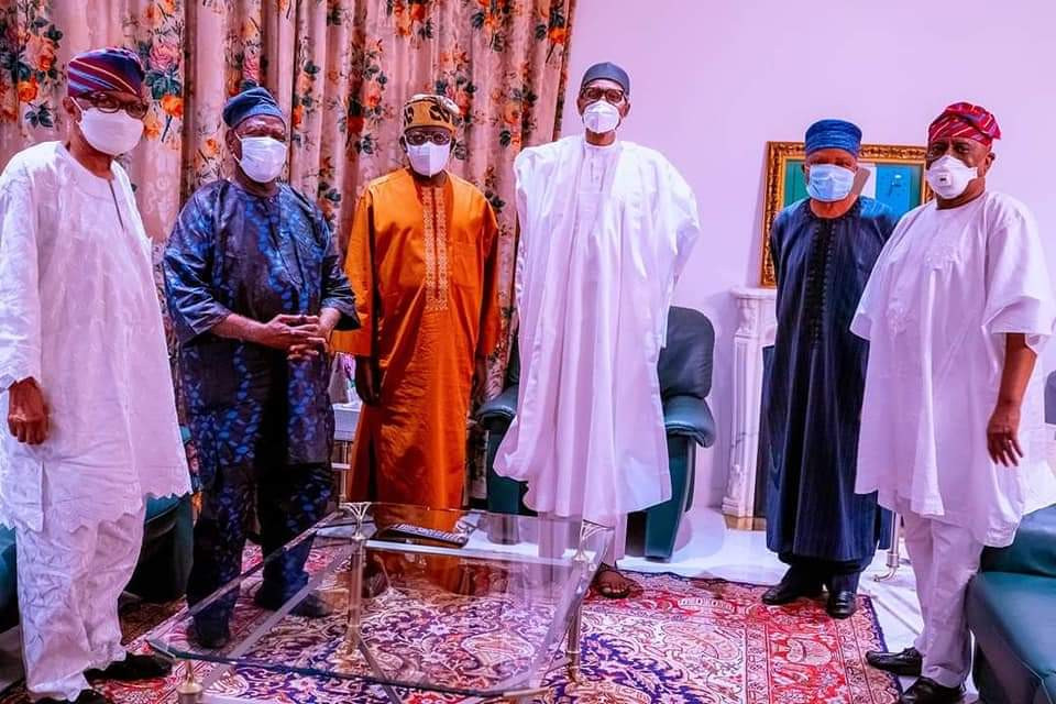 South West leaders pay condolence visit to President Buhari over death of Chief of Army Staff, Lt. Gen. Ibrahim Attahiru