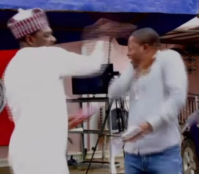 Human rights activist, Ahmed Isah of Brekete Family seen slapping a man in another video weeks after slapping an abusive woman (video)