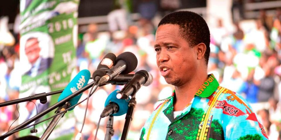 Zambia President Edgar Lungu collapses after