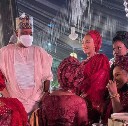 61202e5e0325a - First photos and video from wedding dinner of President Buhari's son, Yusuf