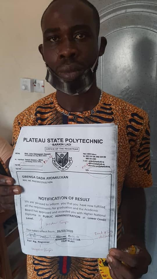 Police arrest fake Corps member with forged HND certificate in Adamawa