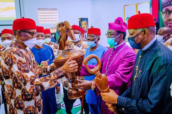 I want to be remembered as a President who stabilized Nigeria - President Buhari tells SouthEast leaders