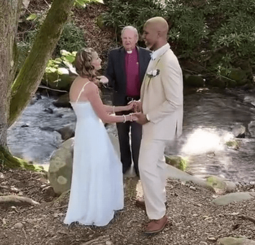 Man, 24, and grandma, 61, finally wed after their engagement went viral
