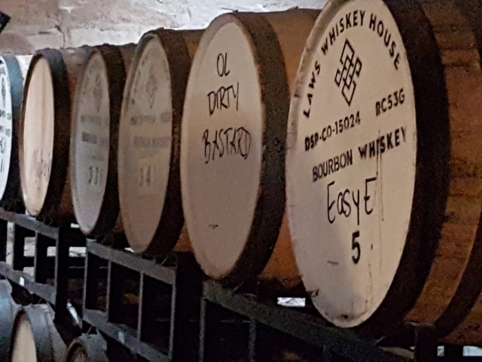Wynkoop beer aging barrels, photo by Mike Gerrard
