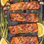 Grilled Salmon with Sweet Glaze