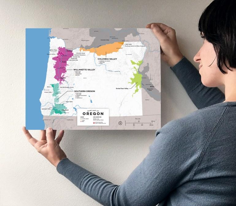 Oregon Wine Map by Wine Folly