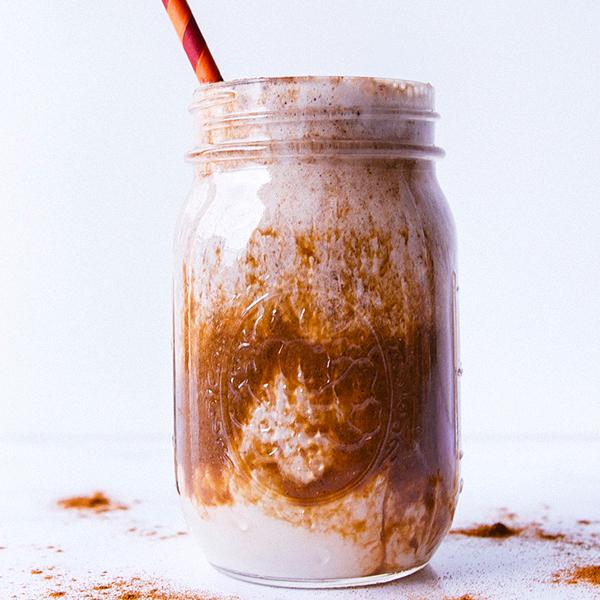 Iced Cinnamon Almond Milk Macchiato Shakeology