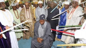Goodluck with more prayers from Yoruba kings than votes