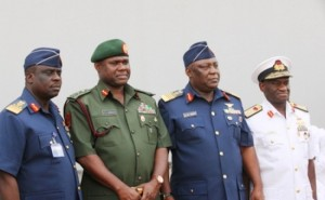 Nigeria's  service chiefs - no stomach for fighting
