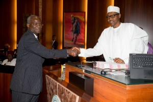Fashola congratulated by Buhari after becoming the Minister for Power, Works and Housing
