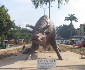Sculpture at Fire Service Roundabout Owerri