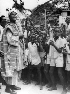 Ali with youngsters in Lagos in 1964