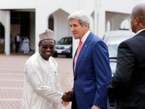 Kazaure welcomes Kerry to Aso Rock