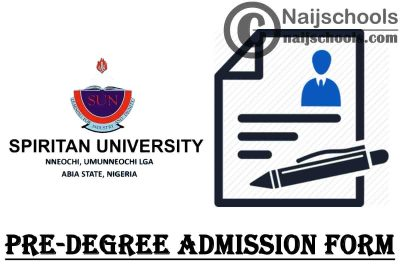 Spiritan University Nneochi (SUN) Pre-Degree Admission Form for 2021/2022 Academic Session | APPLY NOW