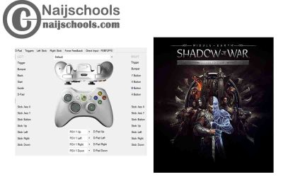 Middle-earth: Shadow of War X360ce Settings for Any PC Gamepad Controller   TESTED & WORKING