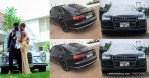 Medikal allegedly changed the number plate of already used Audi A8 car as gift for Fella Makafui