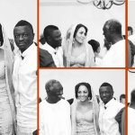 Sulley Muntari & wife, Menaye spotted at J.A Kufuor's 80th birthday party