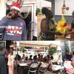Fella Makafui and Medikal blessed the lives of many widows on Christmas day
