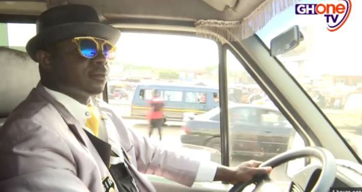 Meet the Ghanaian Trotro Mate who goes to work in a Suit & Tie