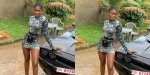 Yaa Jackson flaunts her natural hair in one of her Ghc1000 outfits