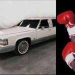 A closer look at Azumah Nelson's expensive white limousine; video drops