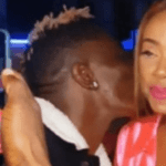 Shatta Wale flaunts his new Fiancee as he kissed her in latest video