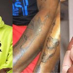 Love Goals: Medikal And Fella Makafui Gets A Pairing Tattoo Of A Lion's Face