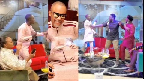 Money Stops All Nonsense, See The Hilarious Moment Fadda Dickson Ordered Lil Win and Funny to Sit Down on Live TV