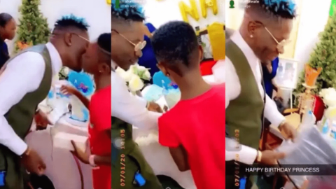 Shatta Wale Gifts His Daughter Nhyira An iPhone, A Laptop And Other Expensive Gifts – Video