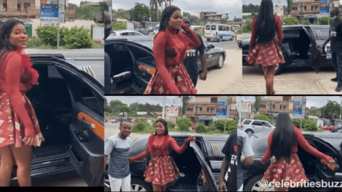 NAM1 Buys a Limousine for his New Signee, Tiisha (See Photos)