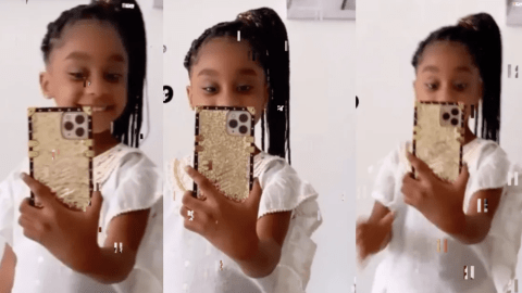 Asamoah Gyan's Daughter Looks All Grown Now As She Dazzles In New Video Ahead Of Her Birthday