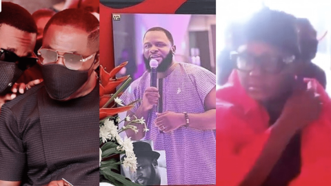 Extremely sad as mother, Kwame Despite, Kennedy Osei, others break down in tears as they pay their last respect to Kwadwo Wiafe (video)