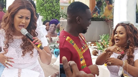Nana Ama Mcbrown Displays Serious Dancing Moves At Joe Mettle's Wedding (+Video)