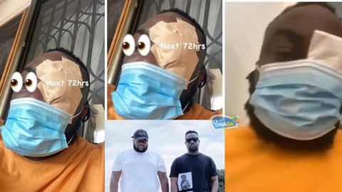Photos + Video : Stonebwoy allegedly attacks Sarkodie's Manager , Angel Town at Sarkodie's rehearsal session
