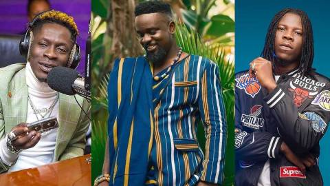 Shatta Wale and Stonebwoy mock Sarkodie after losing 'Artiste of the year' award to Kuami Eugene [Watch]
