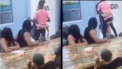Watch The Hilarious Moment Nenji Carried Laycon Like A New Baby In Big Brother Naija House