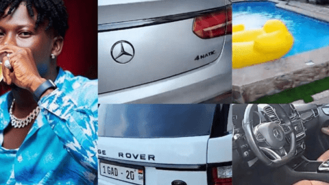 Inside Stonebwoy's multi-million East Legon mansion that contains expensive cars