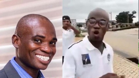 Dr Kwame Fordjuor, man who scammed Ghanaian celebs with UN Award is an underground rapper (video)