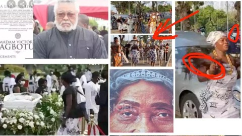 See Some Unusual Things We are Seeing as the funeral of JJ Rawlings mother is in progress