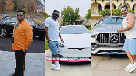 Koo Fori flaunts his new Tesla, Mansion and Other Luxurious Cars and Lifestyle in California after his House got burnt in Ghana