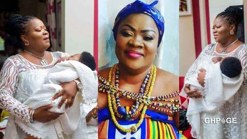 Actress Mercy Asiedu & husband welcome a newborn baby